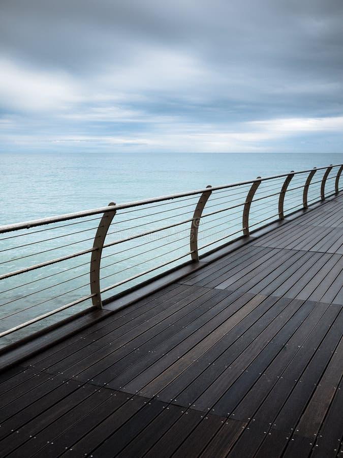 Download Modern wooden pier stock image. Image of pier, rain, landscape - 17010419