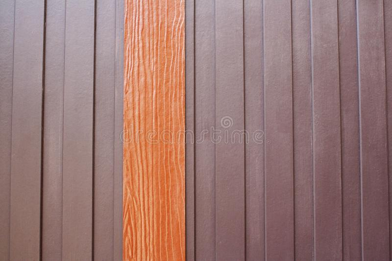 Modern wooden wall stock image