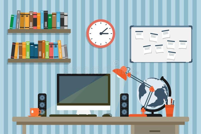 Modern workplace vector illustration