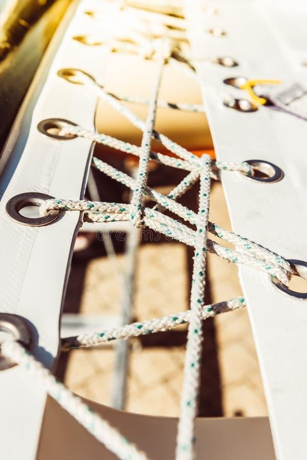 Modern Yacht Safety Net stock photo