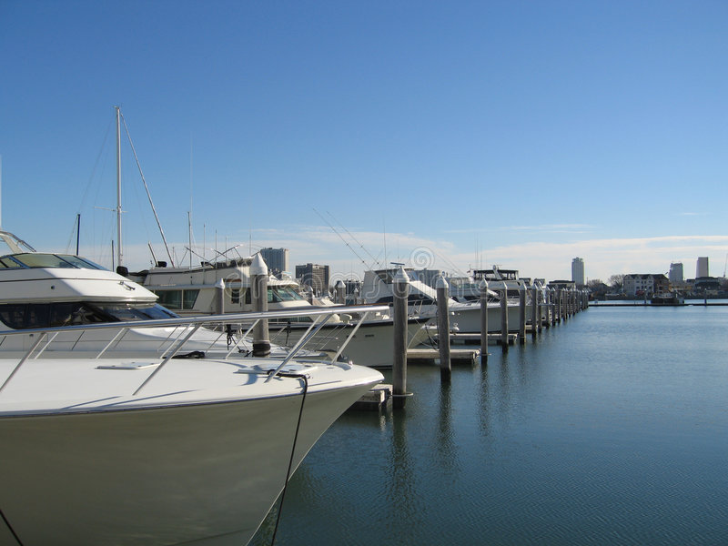Download Modern yachts in marina stock image. Image of summer, city - 1716875