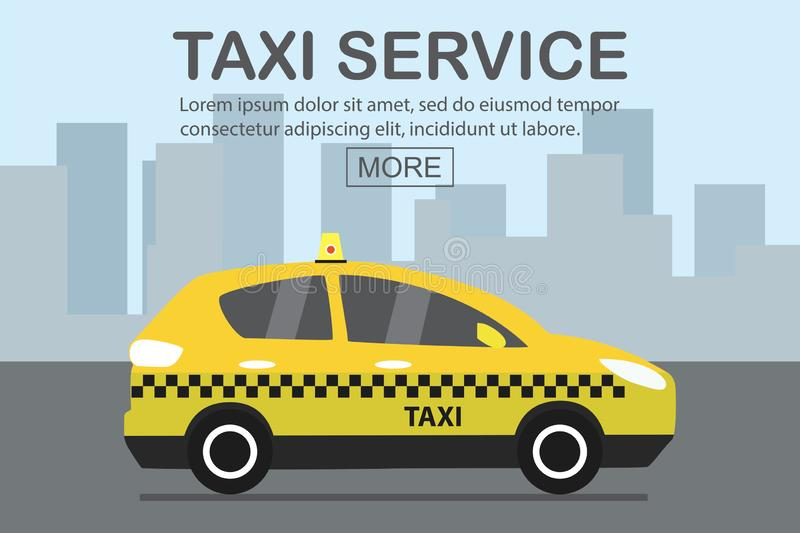 Modern yellow taxi car,web template place for text. Vector illustration vector illustration