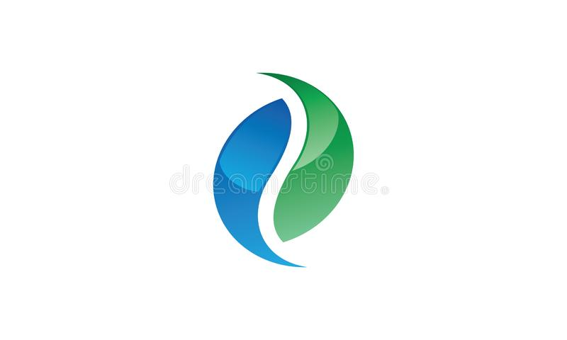 A modern yin-yang logo in aqua and blue color. This modern yin-yang logo in aqua and blue color can be used as a logo for many services vector illustration