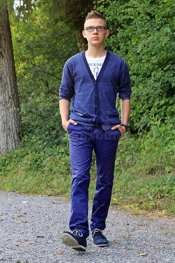 A modern young man royalty free stock photography