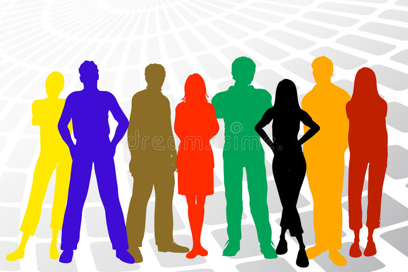 Download Modern young people stock illustration. Illustration of data - 67966369