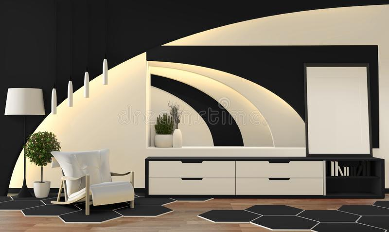 Light Living Room In Oriental Style Stock Vector ...