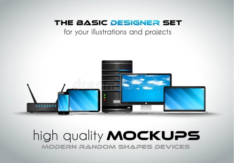 Moderna apparatmodeller för dina affärsprojekt royaltyfri illustrationer