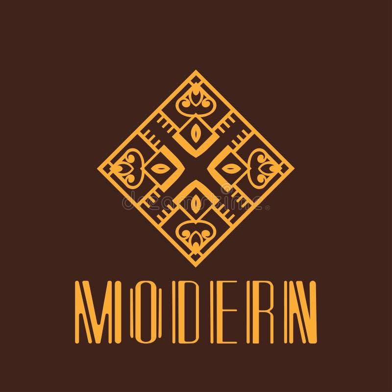 Moderna Art Deco Logo vektor illustrationer