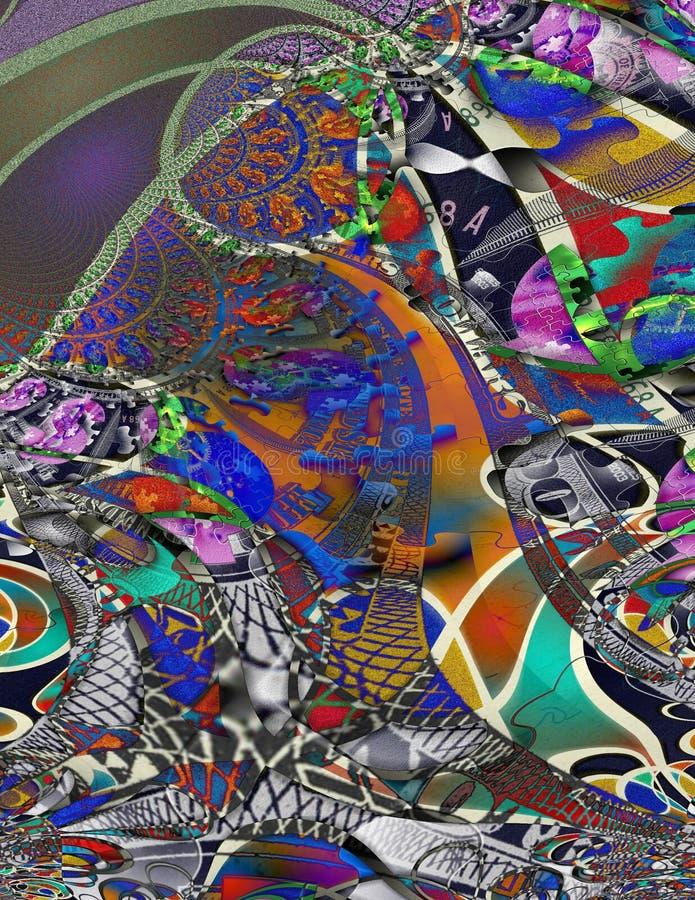 Moderna Art Money Abstract vektor illustrationer