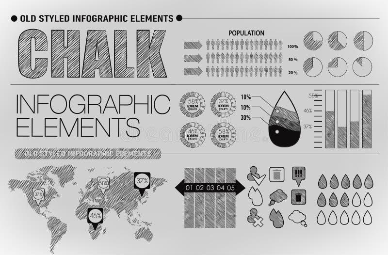 Moderna beståndsdelar av informationsdiagram vektor illustrationer