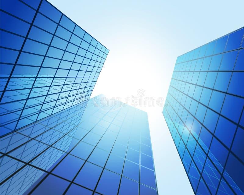moderna byggnader stock illustrationer