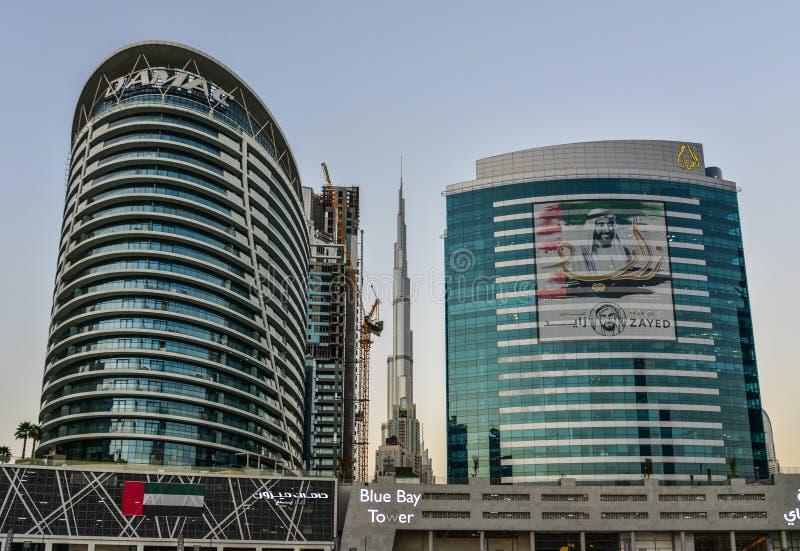 Moderna byggnader i Dubai, UAE fotografering för bildbyråer