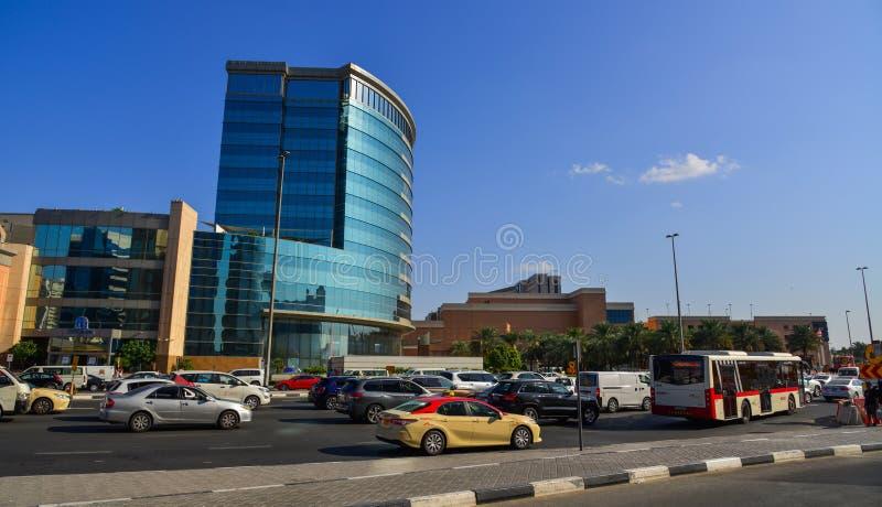 Moderna byggnader i Dubai, UAE arkivfoto