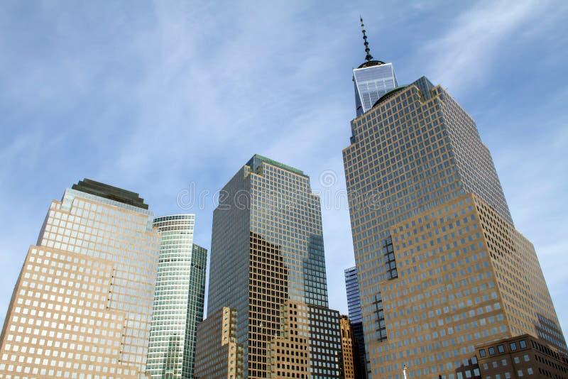 Moderna byggnader i Tribeca fotografering för bildbyråer