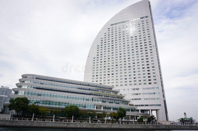 Moderna byggnader i Yokohama, Japan royaltyfri foto
