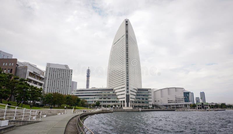 Moderna byggnader i Yokohama, Japan arkivfoton