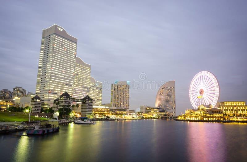 Moderna byggnader i Yokohama, Japan royaltyfria foton