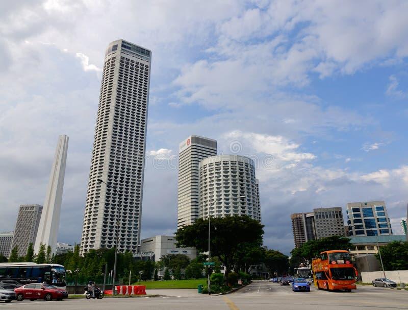 Moderna byggnader på Georgetown i Penang, Malaysia royaltyfri bild