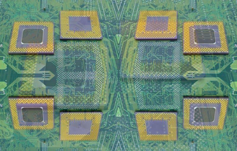 Moderna CPU-processorer arkivbild