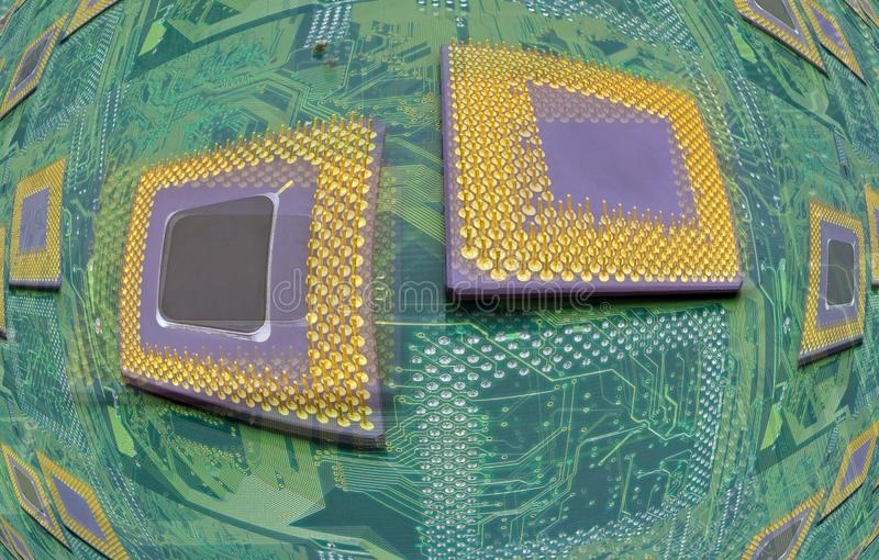 Moderna CPU-processorer royaltyfri foto