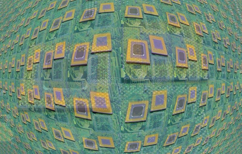 Moderna CPU-processorer fotografering för bildbyråer