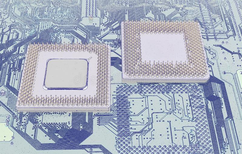 Moderna CPU-processorer arkivbilder