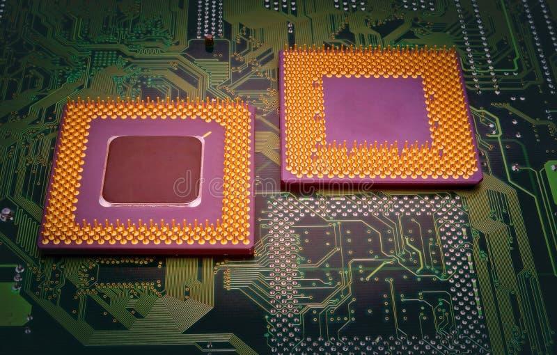 Moderna CPU-processorer arkivfoton