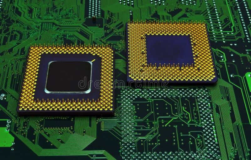 Moderna CPU-processorer arkivfoto