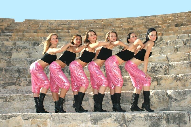 moderna dansare fotografering för bildbyråer