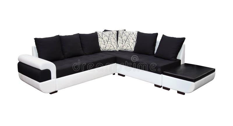 Dubbel tona sofaen arkivfoton