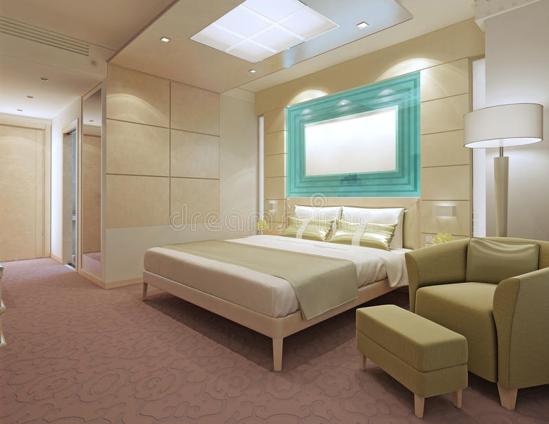 Moderna hotelllägenheter royaltyfri foto