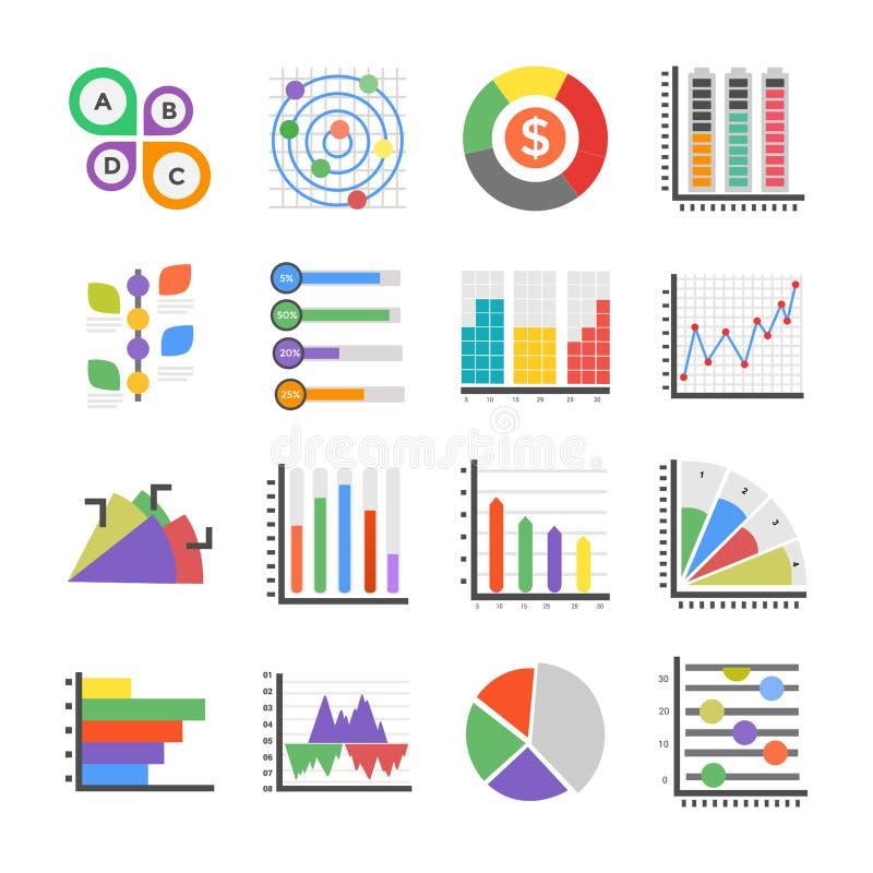 Moderna Infographics lägenhetsymboler vektor illustrationer