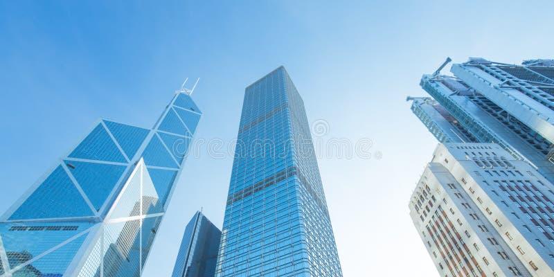 Moderna kontorsbyggnadar i centrala Hong Kong arkivfoton
