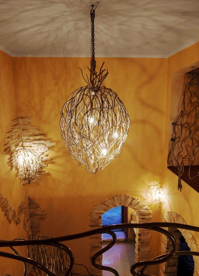 Moderna lightingarmaturer arkivfoto