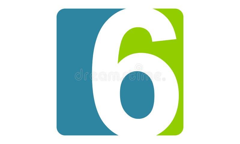 Moderna Logo Number 6 royaltyfri illustrationer