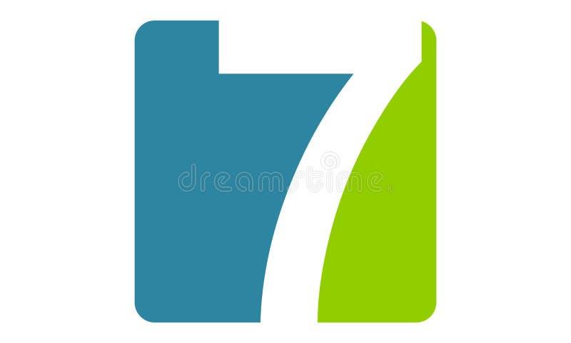 Moderna Logo Number 7 royaltyfri illustrationer