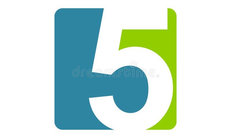 Moderna Logo Number 5 stock illustrationer