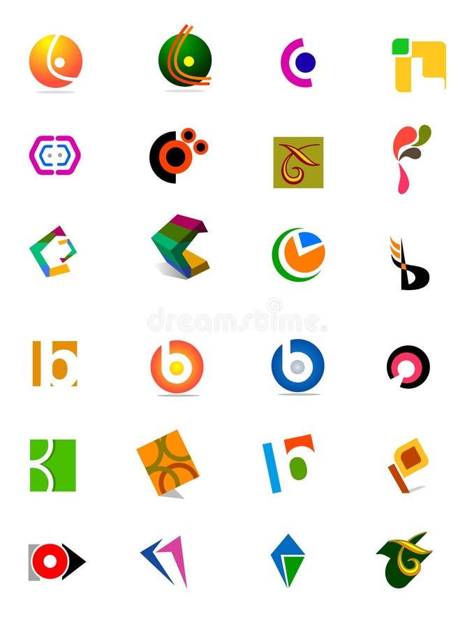 moderna logoer stock illustrationer