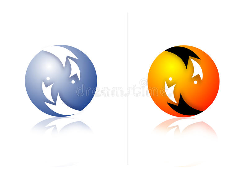 moderna logoer royaltyfri illustrationer