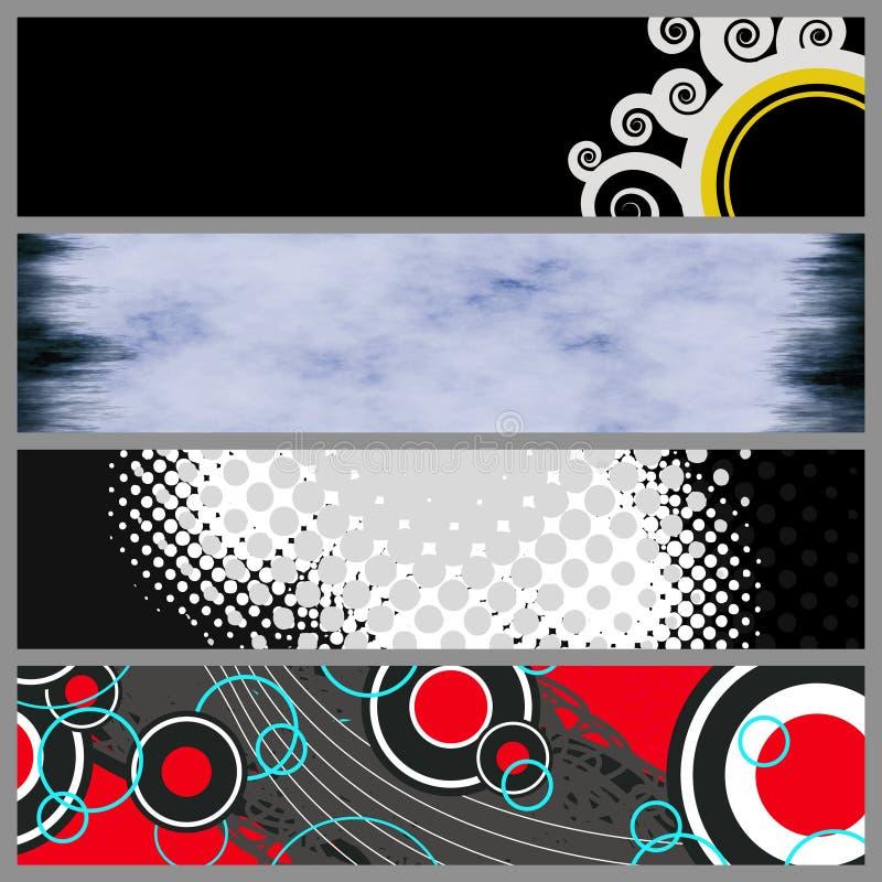 moderna mallar för baner vektor illustrationer