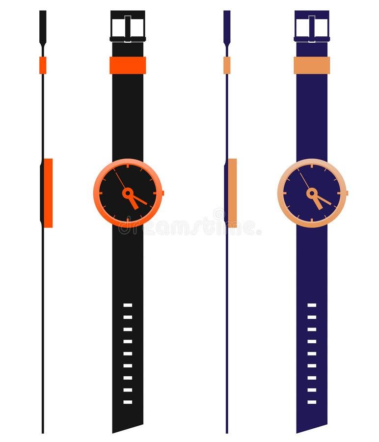 moderna mallwatches stock illustrationer
