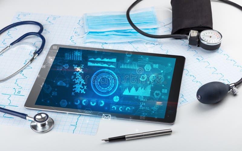 Moderna medicinska teknologisystem och apparater stock illustrationer