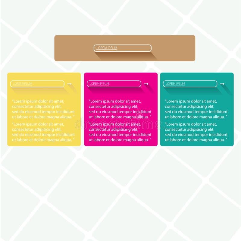 Moderna moderiktiga designbaner för lägenhet UI royaltyfri illustrationer