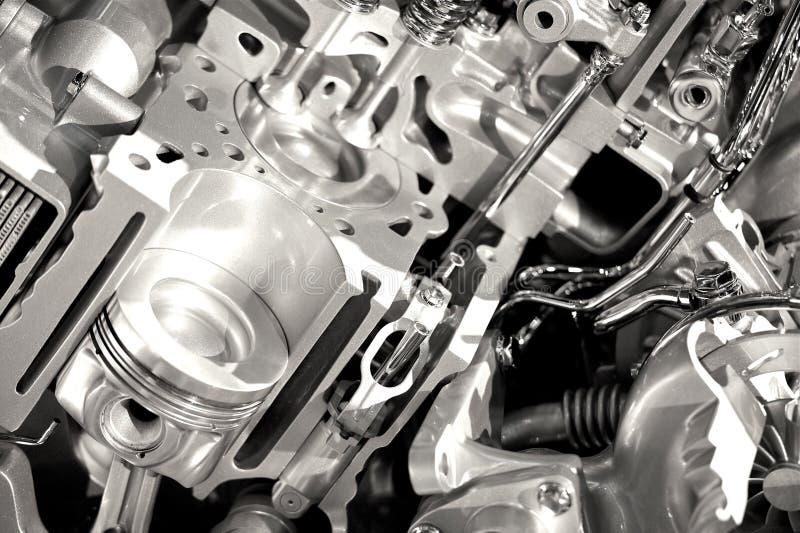 Moderna motoravsnitt royaltyfri bild