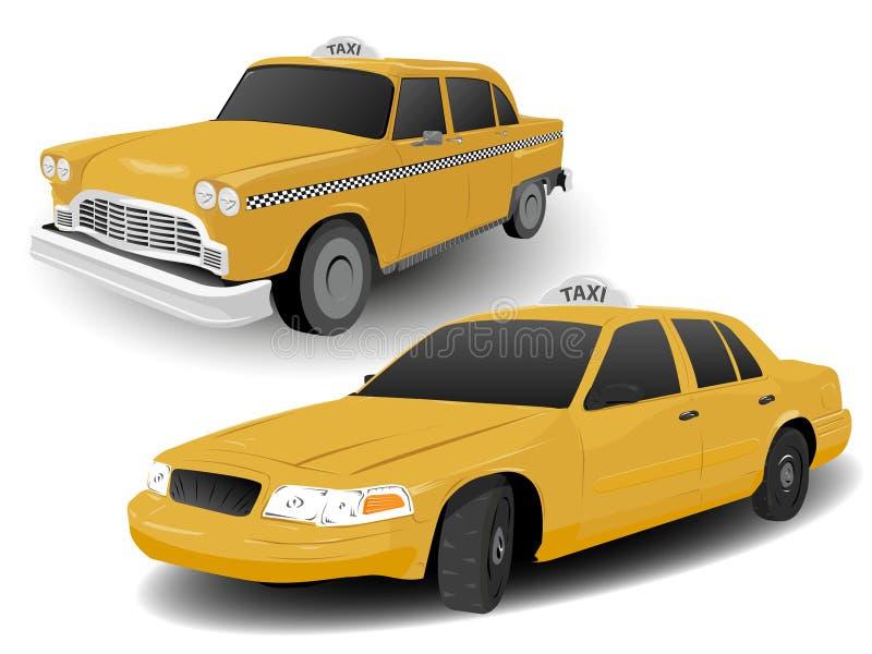 moderna nya gammala taxis york stock illustrationer