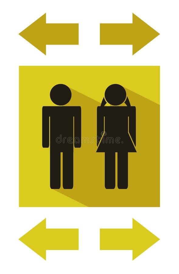 Moderna plana symboler för Wc - symbol för offentliga toaletter royaltyfri illustrationer