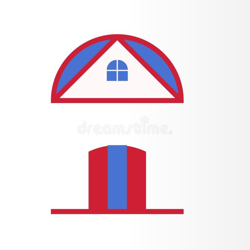 Moderna Real Estate Logo Design Unikt hem, huslogo för ditt företag vektor illustrationer