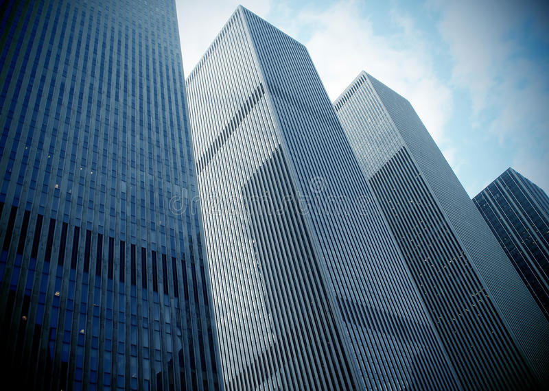 moderna skyskrapor royaltyfri foto