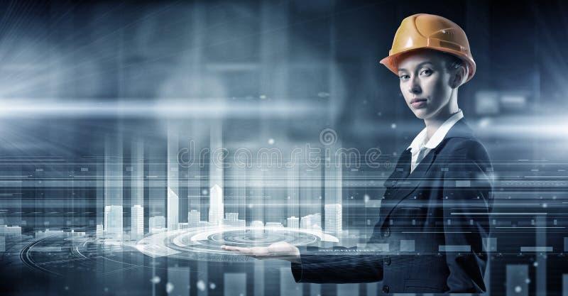 Moderna teknologier som är i bruk Blandat massmedia arkivfoton