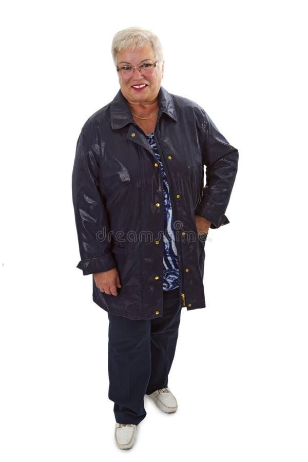 Moderne ältere Frau stockfoto